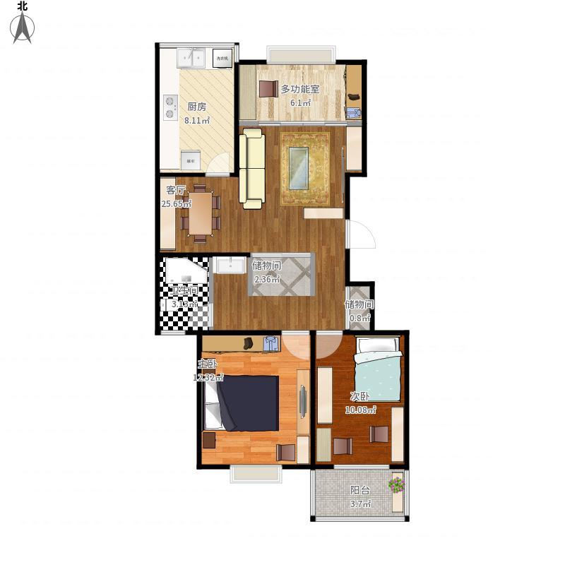2室2厅改造3室2厅