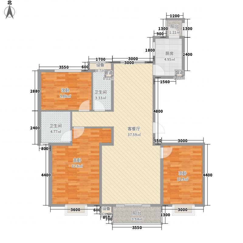 上上城理想新城14#楼三居户型