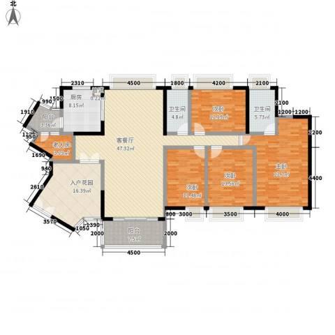 中海金沙熙岸5室1厅2卫1厨185.00㎡户型图