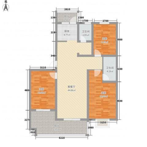 嘉禾・盛世豪庭3室1厅2卫0厨147.00㎡户型图