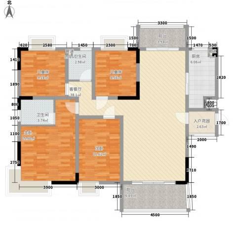 中廷森林公馆4室1厅2卫1厨135.00㎡户型图