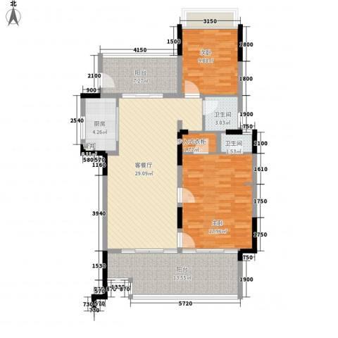 华润・石梅湾九里2室1厅2卫1厨109.00㎡户型图