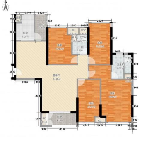 海伦湾4室1厅4卫1厨130.37㎡户型图