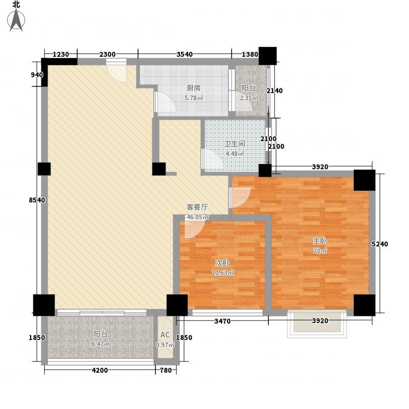 明发商业广场137.00㎡B2户型3室2厅1卫1厨