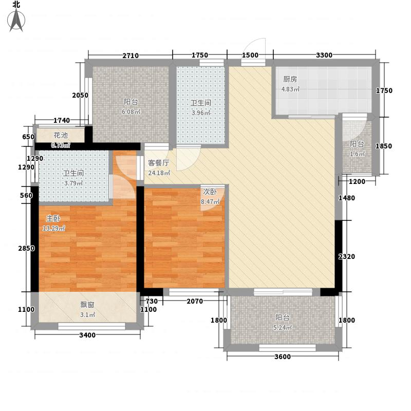 天昌东盟中央城8.11㎡A5栋03、05户型2室2厅2卫1厨