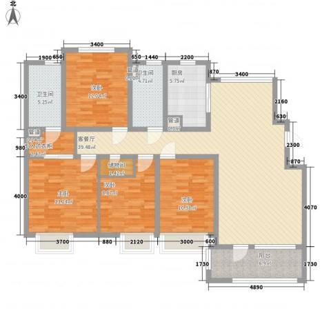 「大连天地」悦翠台4室1厅2卫1厨150.00㎡户型图