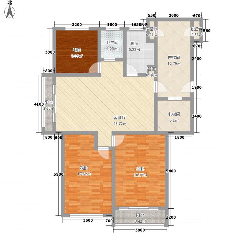金海国际花园118.48㎡幽香雅阁2户型3室2厅1卫1厨