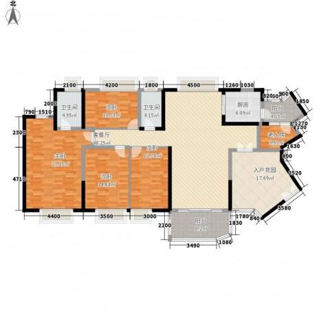 中海金沙熙岸5室1厅2卫1厨184.00㎡户型图