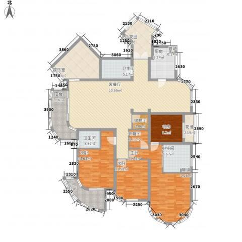 香湖郡4室1厅3卫1厨238.00㎡户型图