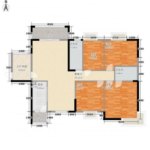 海悦云天4室1厅2卫1厨151.00㎡户型图