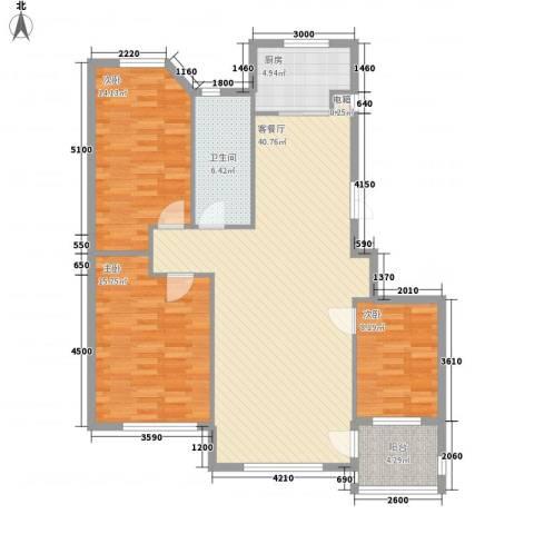 东城天下3室1厅1卫1厨105.00㎡户型图