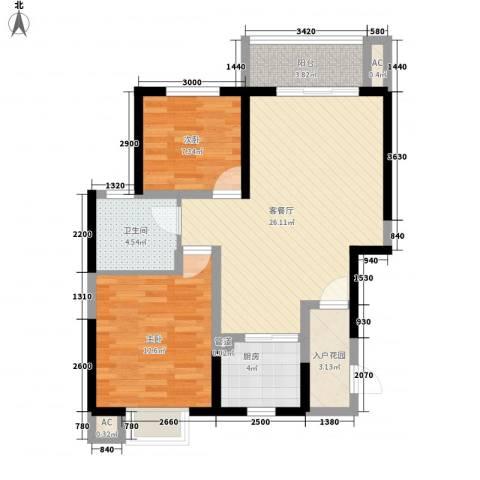 海晟维多利亚2室1厅1卫1厨84.00㎡户型图