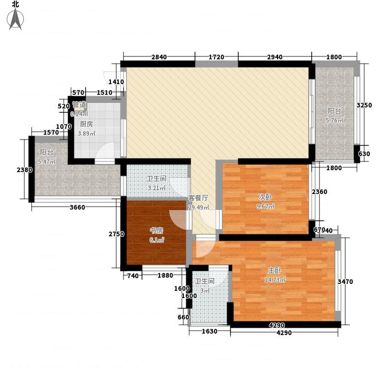 金源一品5栋03户型3室2厅2卫1厨