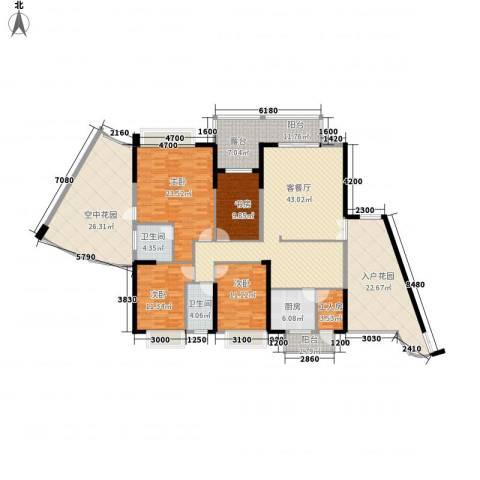 江南华府4室1厅2卫1厨185.00㎡户型图