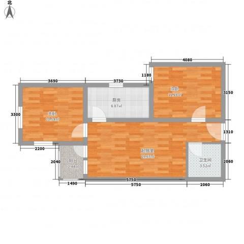 兴隆家园2室0厅1卫1厨77.00㎡户型图