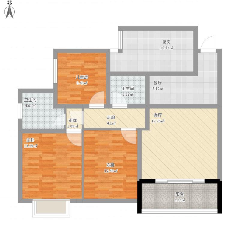 金山角浙江商城三室一厅b
