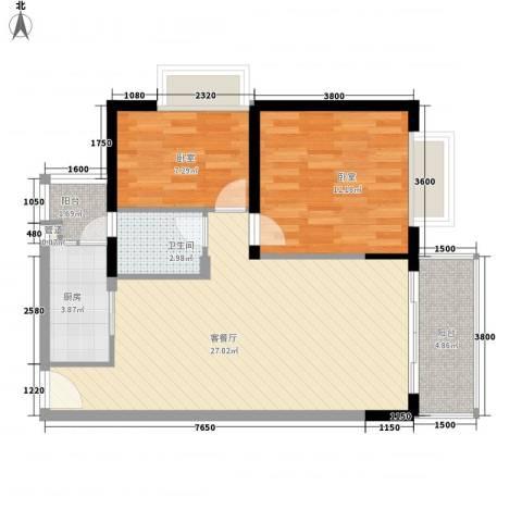 合正锦园1厅1卫1厨85.00㎡户型图