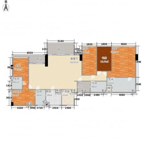 双大国际公馆4室1厅4卫1厨284.00㎡户型图