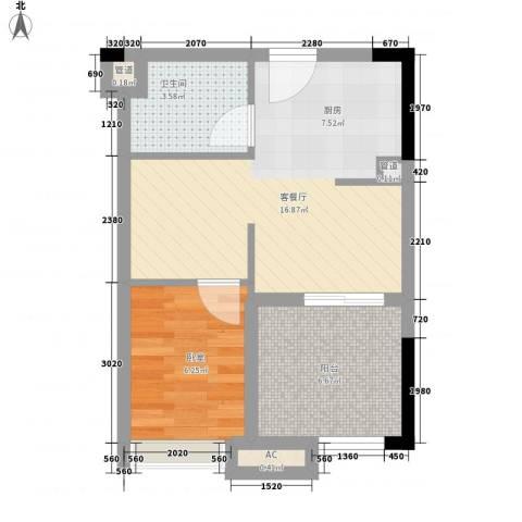 丽雅嘉园1厅1卫0厨47.00㎡户型图
