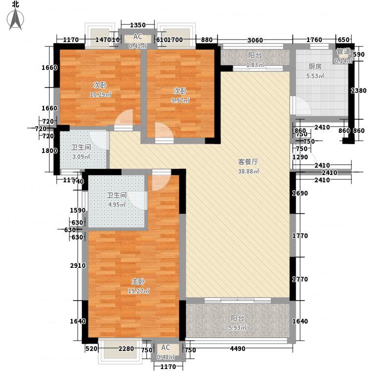 德庆水韵山城139.76㎡3号楼01号房面积13976m户型