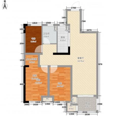 民生・瞰江郡3室1厅1卫1厨78.96㎡户型图