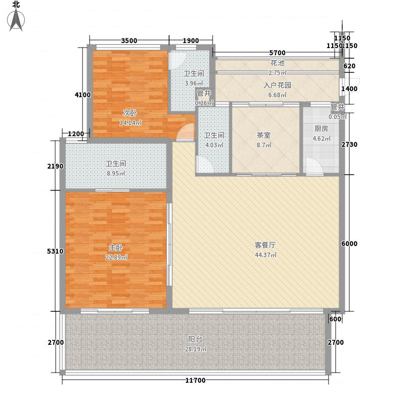 华润・石梅湾九里168.00㎡公寓C1户型3室2厅3卫1厨