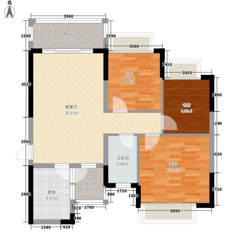 恒大城101.00㎡恒大城户型图3#2户型图3室2厅1卫1厨户型3室2厅1卫1厨