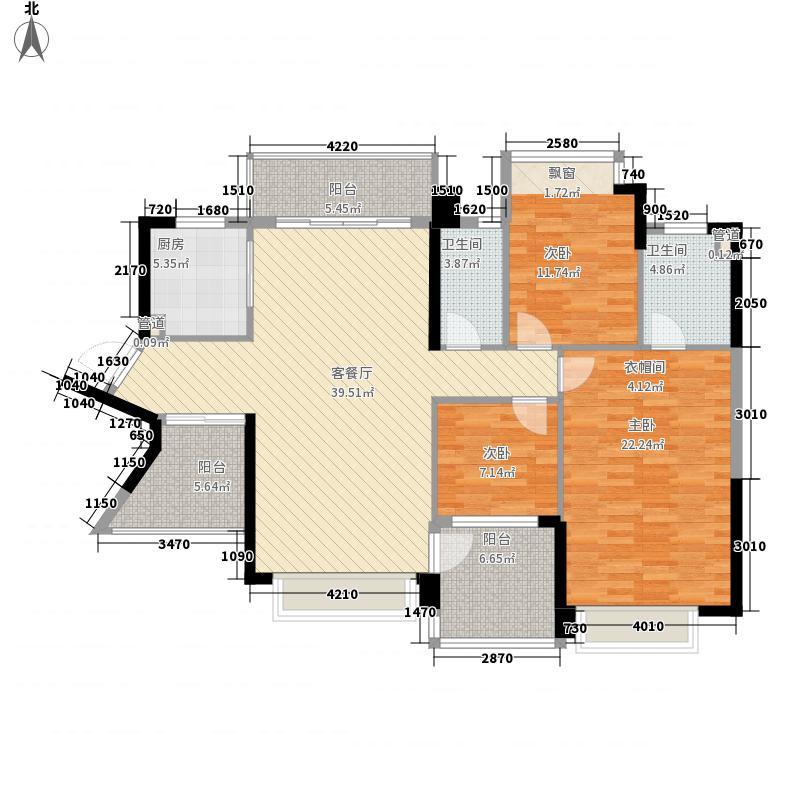 华凯逸悦豪庭141.00㎡二期33号楼05户型3室2厅2卫1厨