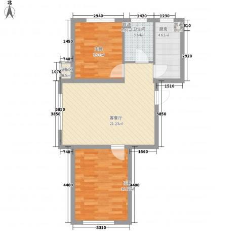 其仕・郡2室1厅1卫1厨83.00㎡户型图