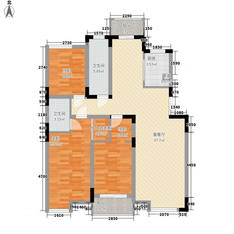 中兴西湖花园133.30㎡中兴西湖花园户型图3室2厅2卫1厨户型10室