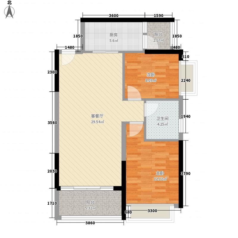 恒大城95.00㎡恒大城户型图4#2户型图2室2厅1卫1厨户型2室2厅1卫1厨