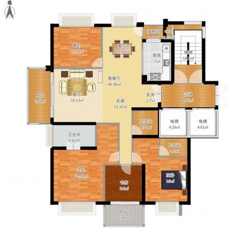 栖霞栖园4室1厅3卫1厨237.00㎡户型图