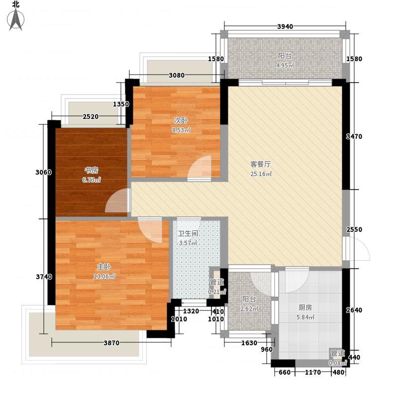 恒大城101.00㎡恒大城户型图3#3,7#3户型图3室2厅1卫1厨户型3室2厅1卫1厨