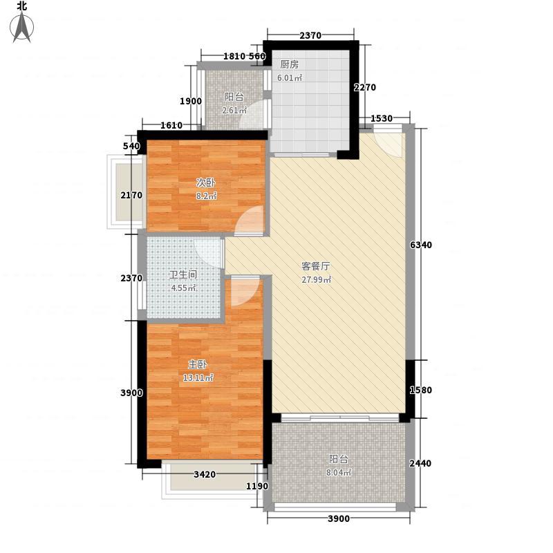 恒大城100.00㎡恒大城户型图3#2户型图2室2厅1卫1厨户型2室2厅1卫1厨