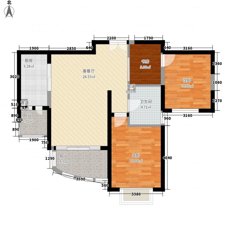 鸿运润园103.30㎡C区运安苑A—2户型2室2厅1卫1厨