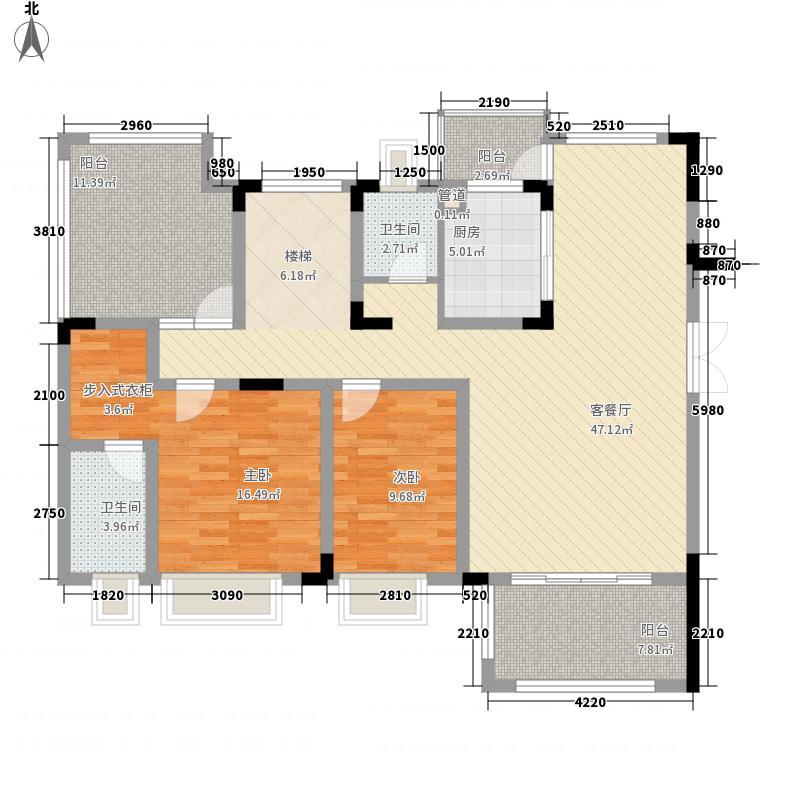 凤岭新新家园216.10㎡9栋A3(3)户型5室2厅3卫