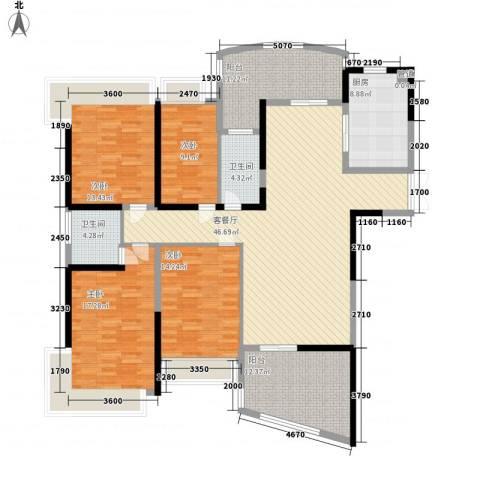 凯茵新城4室1厅2卫1厨173.00㎡户型图