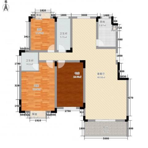 麓山里3室1厅2卫1厨171.00㎡户型图