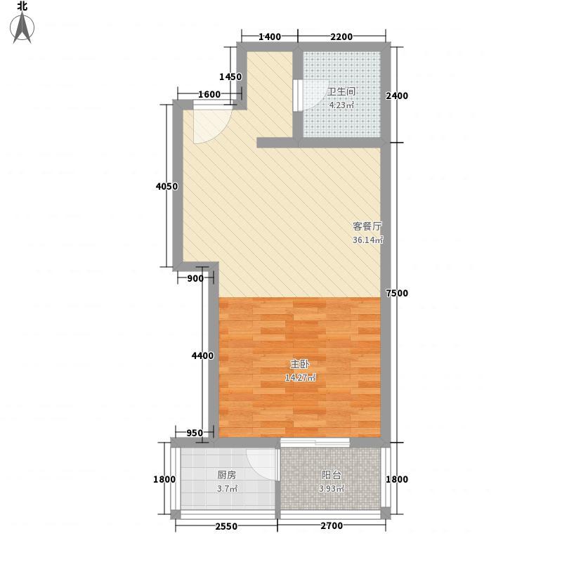 中环广场69.90㎡D-4户型1室1厅1卫1厨