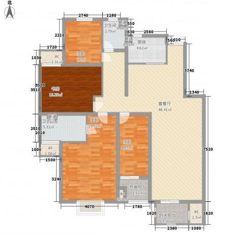 紫御美墅4室1厅2卫1厨171.00㎡户型图