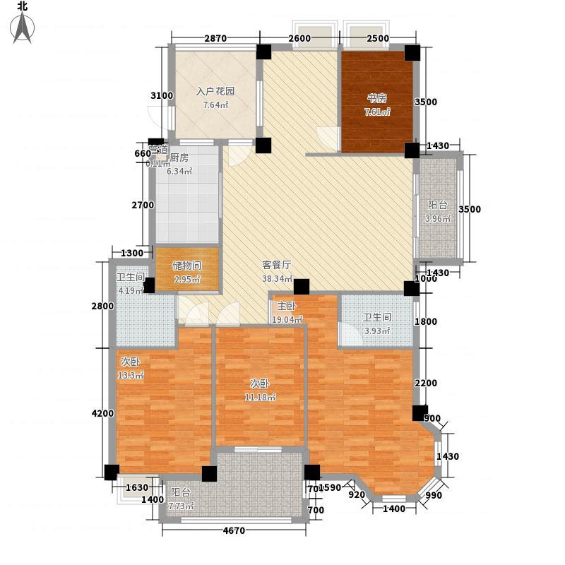 江南水都美域148.00㎡江南水都美域户型图4室2厅2卫1厨户型10室