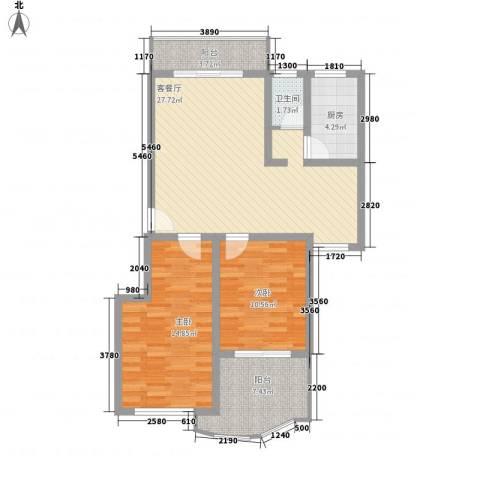望兴家园2室1厅1卫1厨102.00㎡户型图