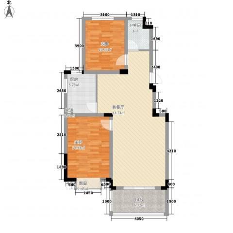 麓山里2室1厅1卫1厨92.00㎡户型图