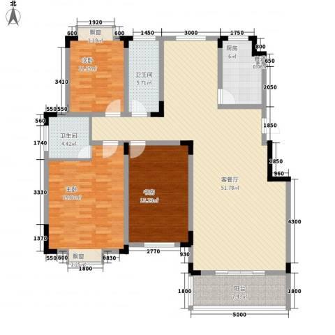 麓山里3室1厅2卫1厨139.00㎡户型图