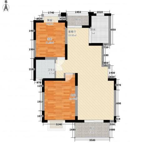 共富新家园2室1厅1卫1厨108.00㎡户型图