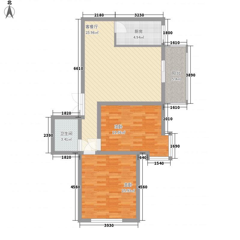 伟邦新西城98.07㎡伟邦・新西城户型图B2户型图2室2厅1卫1厨户型2室2厅1卫1厨