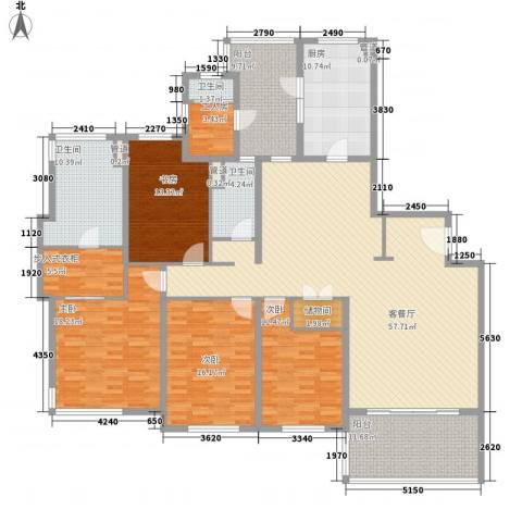 仁恒河滨城三期4室1厅3卫1厨250.00㎡户型图