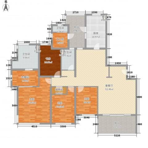 仁恒河滨城三期4室1厅3卫1厨239.00㎡户型图