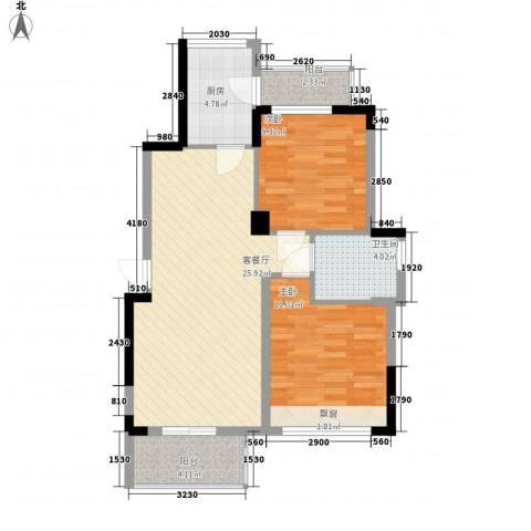 花样年江山2室1厅1卫1厨80.00㎡户型图