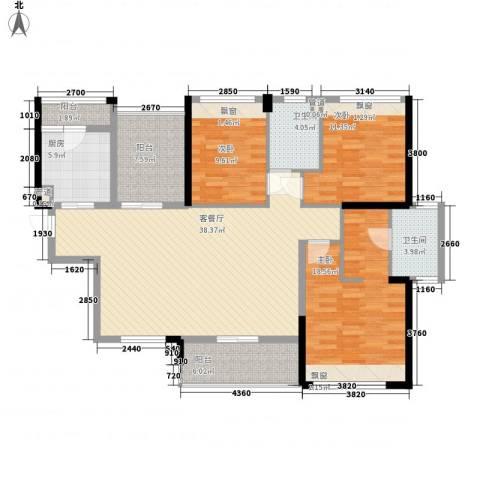 花样年江山3室1厅2卫1厨119.00㎡户型图